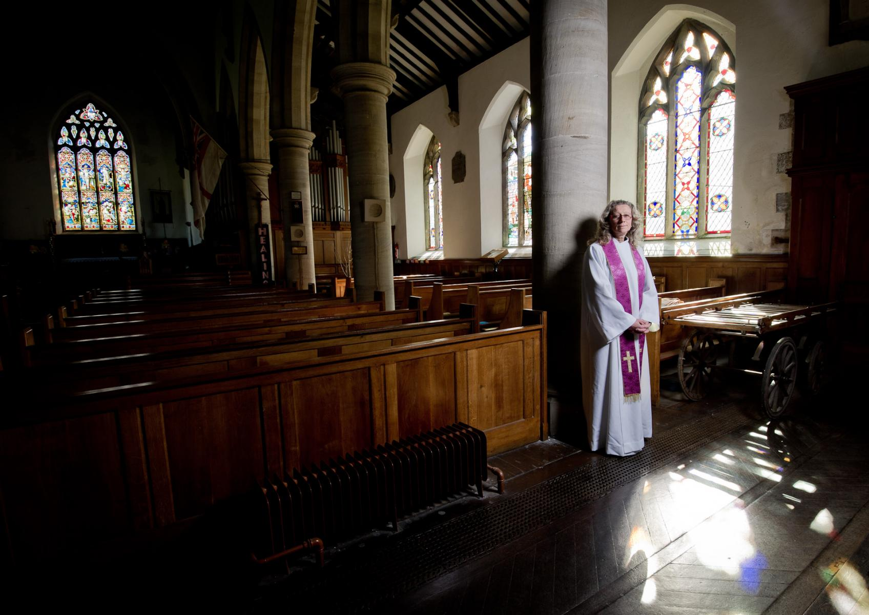 Rev Ann Chapman, priest in charge, parishes of Hawes, Hardraw, Askrigg, Stalling Busk