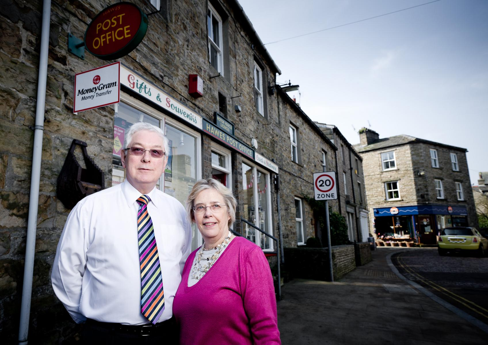 Linda and Stephen Reynolds,  Hawes Post Office